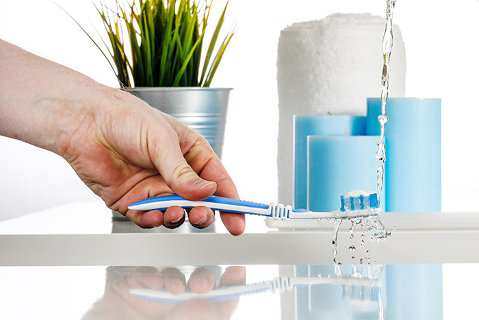 Service professionelle Zahnreinigung